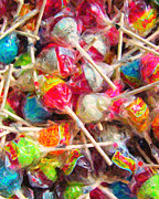 Candy Digital Art - Pile of Lollipops - Painterly by Wingsdomain Art and Photography