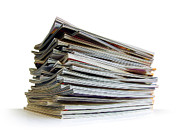 Data Photo Prints - Pile of Magazines Print by Carlos Caetano