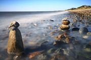 Photography Prints Prints - Pile Of Stones On Ryder Beach Truro MA Print by Dapixara Art