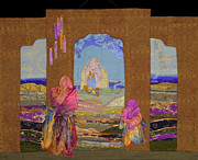 Woman Tapestries - Textiles Metal Prints - Pilgrimage Metal Print by Roberta Baker