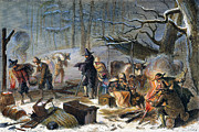 1620 Prints - Pilgrims: First Winter, 1620 Print by Granger