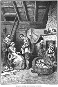 Family Time Prints - Pilgrims Starving, 1623 Print by Granger