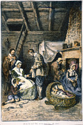 Corn Crib Photo Posters - Pilgrims Starving Poster by Granger