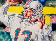 Dan Marino Drawings - Pillar by Janine Hoffman