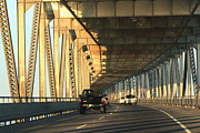 San Rafael Bridge Prints - Pillar of Light Print by Raquel Amaral