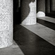 Mosaic Prints - Pillars and Shadow Print by David Bowman