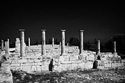 Republic Prints - Pillars At The Apollo Hylates Sanctuary Of Apollon Ylatis At Kourion Archeological Site Cyprus Print by Joe Fox