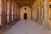 Hindi Metal Prints - Pillars in Amber Fort Metal Print by Inti St. Clair