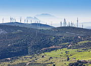 Casares Metal Prints - Pillars Of Hercules Seen From Casares, Spain. Metal Print by Ken Welsh