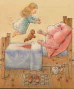Bedroom Prints - Pillow Print by Kestutis Kasparavicius