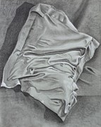 Pillow Still Life In Human Pose Drawings Metal Prints - Pillow Talk Metal Print by Patsy Sharpe