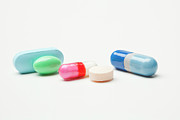 Healthcare And Medicine Art - Pills And Capsules On White Background by Vstock LLC