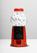 Healthcare And Medicine Art - Pills In Gumball Machine by Cavan Images