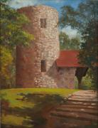 Knob Painting Prints - Pilot Knob Tower Print by Sandra Quintus