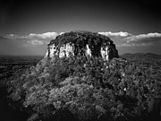 Mt. Airy Framed Prints - Pilot Mountain Back and White Framed Print by Mark Wagoner