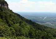 North Carolina Mountains Posters - Pilot Mountain Poster by Karen Wiles