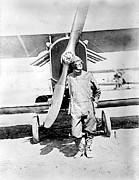 1910s Portrait Prints - Pilot Standing In Front Of U.s. Army Print by Everett
