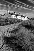 Landscape Digital Art Metal Prints - Pilots Cottages Metal Print by Adrian Evans