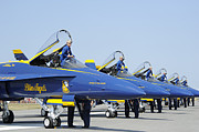 Rochester New York Photos - Pilots Of The Blue Angels Flight by Stocktrek Images