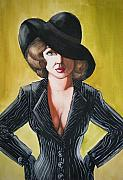 Gouache Paintings - Pin Stripes and an Attitude by Scarlett Royal