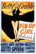 Grable Framed Prints - Pin Up Girl, Betty Grable, 1944 Framed Print by Everett
