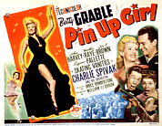 Grable Metal Prints - Pin-up Girl, Betty Grable, John Harvey Metal Print by Everett