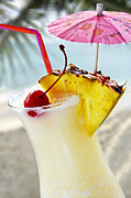 Glasses Photos - Pina colada by Elena Elisseeva