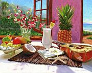 Food And Beverage Paintings - Pina Colada by Steve Simon
