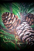 Pine Cones Paintings - Pine Cones by Krista Ouellette