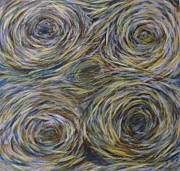 Pine Needles Pastels - Pine Needle Squirrel Holes by Joann Renner