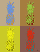 Popart Painting Prints - Pineapple 42 Print by Flo Ryan