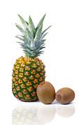 Pineapple And Kiwis Print by Carlos Caetano