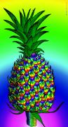 Digital Collage Prints - Pineapple Print by Eric Edelman