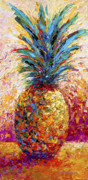 Expressionism Acrylic Prints - Pineapple Expression Acrylic Print by Marion Rose