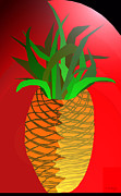 Privilege Framed Prints - Pineapple Icon Framed Print by Charles Pulley