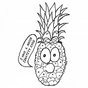Fruits Drawings Prints - Pineapple Issue Print by Karl Addison