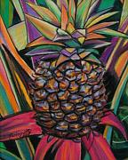 Tropical Art Pastels Posters - Pineapple Poster by Marionette Taboniar