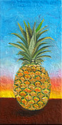 Anne Cameron Cutri Acrylic Prints - Pineapple Sunrise 2 or Pinapple Sunset 2 Acrylic Print by Anne Cameron Cutri