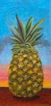 Anne Cameron Cutri Metal Prints - Pineapple Sunrise OR Pineapple Sunset Metal Print by Anne Cameron Cutri