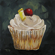 Pineapple Paintings - Pineapple Upside Down Cupcake by Torrie Smiley