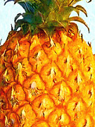 Citrus Digital Art Prints - Pineapple Print by Wingsdomain Art and Photography