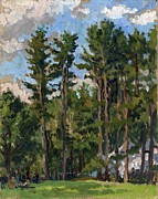 Thor Painting Originals - Pines at Tanglewood by Thor Wickstrom