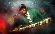 """delta Blues"" Framed Prints - Pinetop Perkins Framed Print by Miki De Goodaboom"