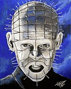 Pinhead Framed Prints - Pinhead - Hellraiser Framed Print by Tom Carlton