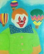 Pinhead Framed Prints - Pinhead Clown Framed Print by Michael Knight