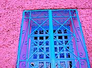 Michael Metal Prints - Pink and Blue by Michael Fitzpatrick Metal Print by Olden Mexico