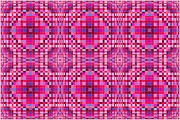 Optical Illusion Digital Art Posters - Pink and Blue Ripples Poster by Chris Long