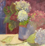 Berkeley Originals - Pink And Cream Hydrangeas by Deborah Cushman