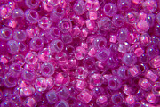 Seed Beads Prints - Pink and Lilac Seed Beads Print by TigerLynx Art