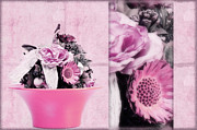 Decorativ Photo Metal Prints - Pink Metal Print by Angela Doelling AD DESIGN Photo and PhotoArt